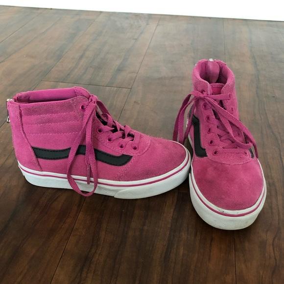 vans for girls black and pink